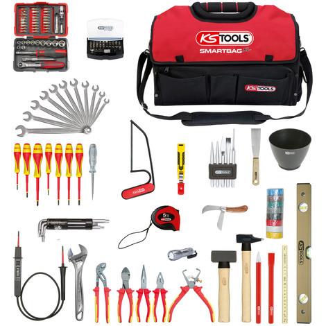 Composition d'outils électricien en sac SMARTBAG - 138 pièces KS Tools 117.0138