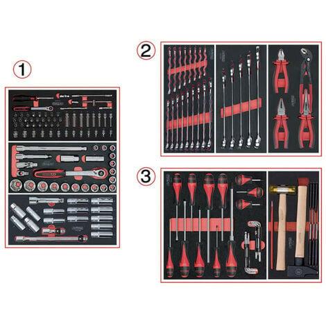 Composition d'outils KS TOOLS - Pour servante - 3 tiroirs - 158 pcs - 714.0158