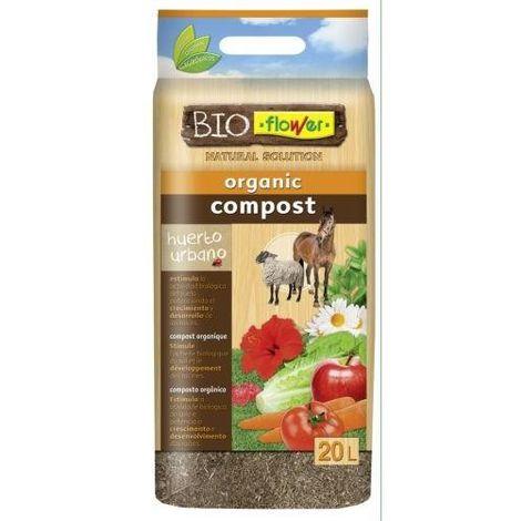 COMPOST ORGANICO 20 L. BIOFLOWER 4-80153