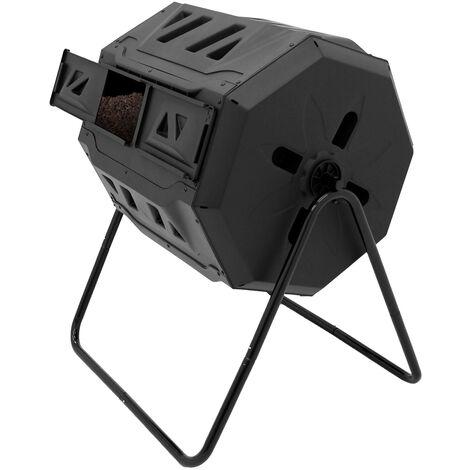 Compostador de jardín contenedor de desechos orgánicos tambor compostaje 160 L