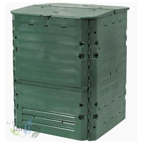 Compostador polietileno térmico 400 litros 74x74x84 cm