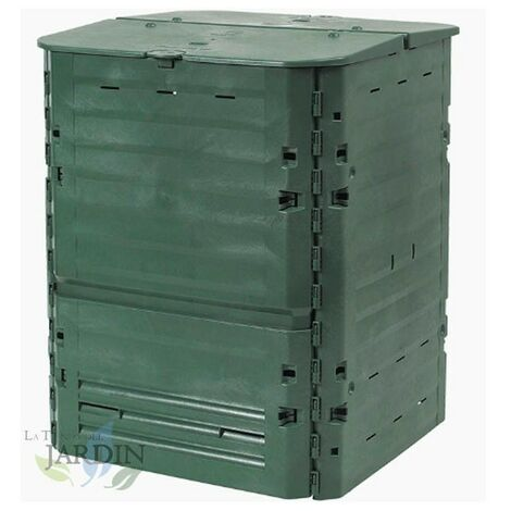 Compostador polietileno térmico 600 litros 80x80x104 cm