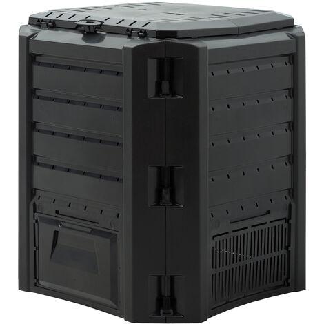 Composter Garden Bin 380L 800L 1200L 1600L Waste Converter Black Composting Unit