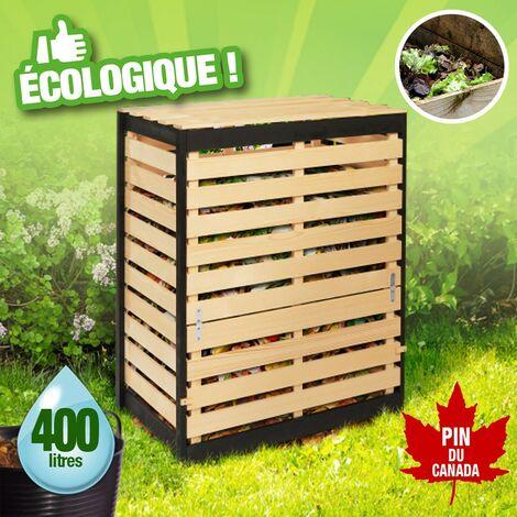 Composteur en bois pin du Canada autoclave - 400 litres