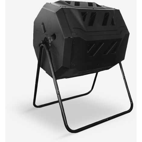 """main image of """"Composteur rotatif pour jardin extérieur 160 litres deux compartiments Abacus"""""""