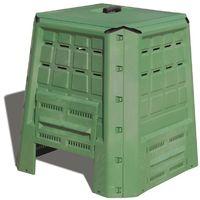 compostiera da giardino 380 litri in polipropilene verde - 80x80x82 cm.