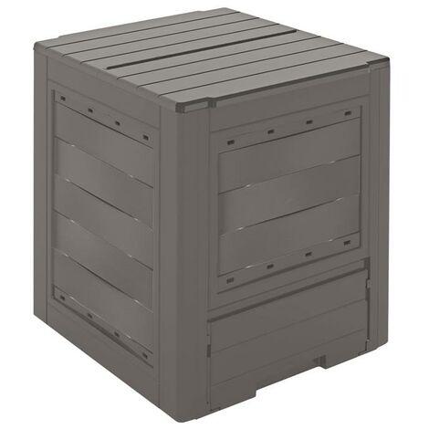 Compostiera in plastica litri 260 L60xP60 H73 composter giardino ambition line
