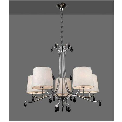 Comprar lámpara con pantallas ANDREA cromo de Mantra