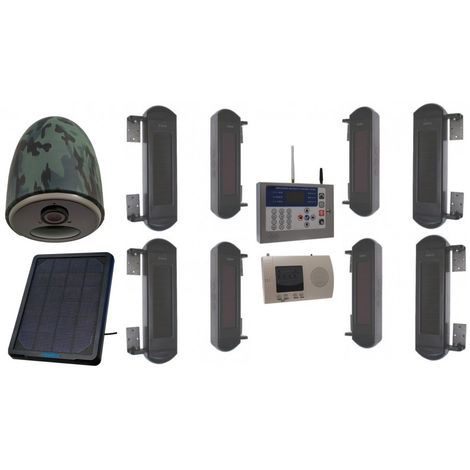 Comprehensive 1B-100 Wireless Perimeter Alarm with GSM Auto-Dialler & 4G Solar Camera