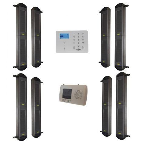 Comprehensive 2B-100 Solar Wireless Perimeter Beams & KP 3G GSM Auto-Dialler System