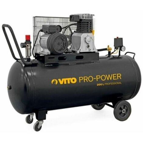 "main image of ""Compresor 200Lt Con Correas 230V 10Bar Vito Pro Power"""