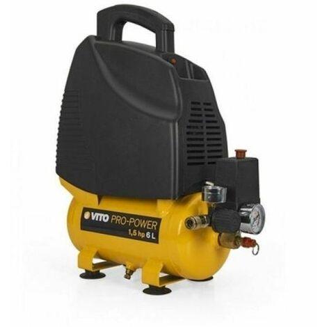 Compresor 6L Motor 230V 1100W Sin Aceite Vito Pro Power