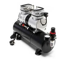 Compresor aerografía HS-196L Tanque aire Regulador presión OnOff automáticos