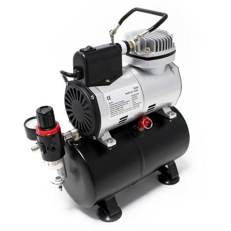 Compresor AF186 para aerografía con tanque de aire reductor de presión y parada arranque automáticos