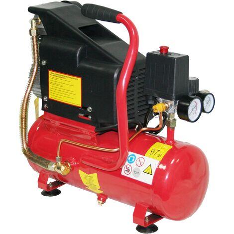 Compresor Aire compresor 6L 1.5Hp + kit + Clavadora Neumática - MADER®