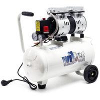 Compresor aire con tanque 24L 0,95CV 700W Compresor silencioso de taller Trabajos aire comprimido