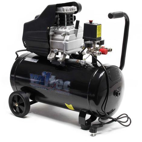 Compresor aire con tanque 50L 1,5CV 1100W Compresor de taller Trabajos aire comprimido