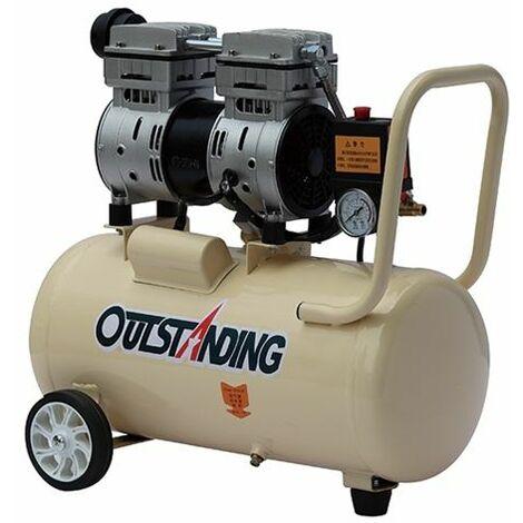 Compresor aire silencioso (66db) sin aceite 30 litros modelo OTS750-30