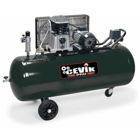 Compresor correa con ruedas 200Lt. 4 HP 11Bar 230V CEVIX CA-AB200/515