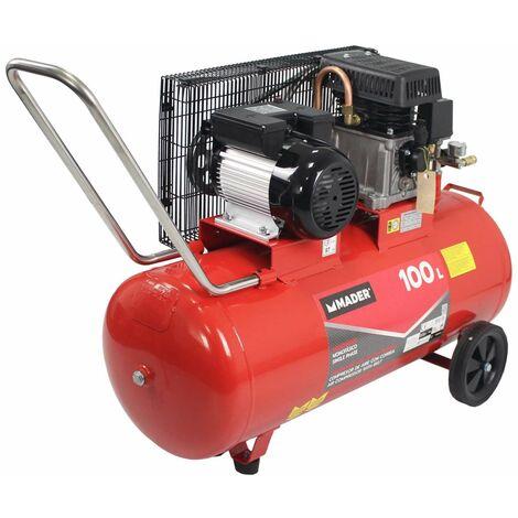 Compresor de Aire con Correa 100Lt 2,75Hp, Monofasico - MADER