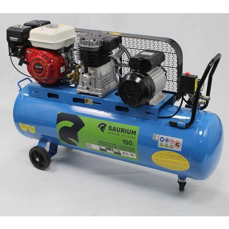 Compresor de Aire 150L Gasolina+Electrico