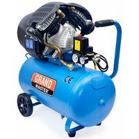 Compresor de Aire 50 Litros 2200W Dos Cilindros 356L/min Para Pintar