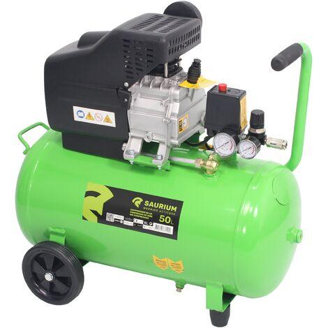 Compresor de Aire, 50L, 1.5HP - SAURIUM®