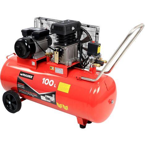 Compresor de Aire, con Correa, 100L, 3HP - MADER® | Power Tools