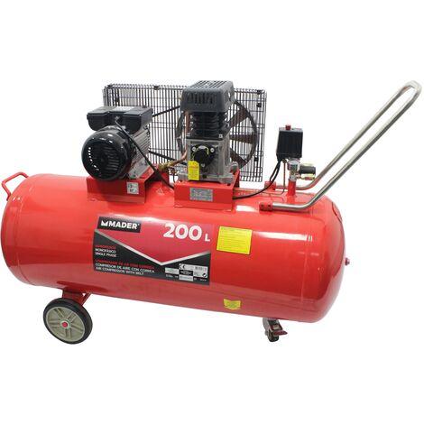 Compresor de Aire con Correa, 200L, 3HP - MADER® | Power Tools