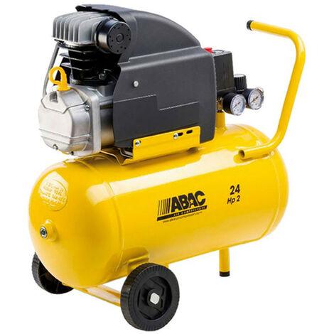 Compresor de aire con ruedas Pole Position B20 motor 2HP 24L ABAC