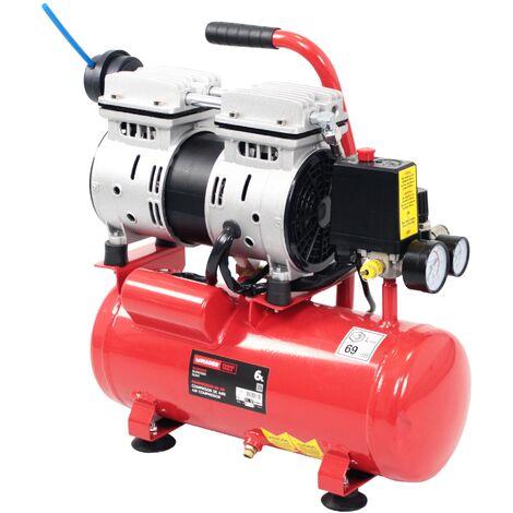 Compresor de Aire Silencioso 0.75Hp, 6L, sin Aceite - 3 en 1- MADER®