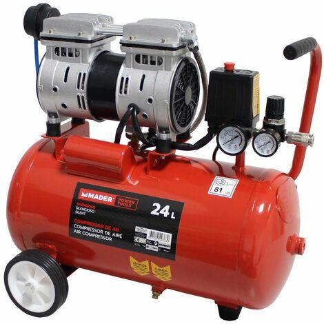 Compresor de Aire Silencioso, 24L, 0.75HP - MADER® | Power Tools