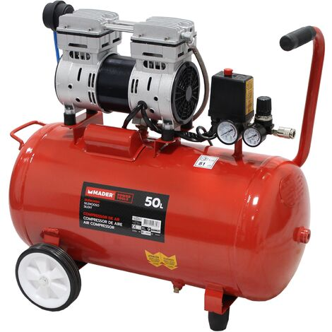 Compresor de Aire Silencioso 50L 1HP - MADER POWER®