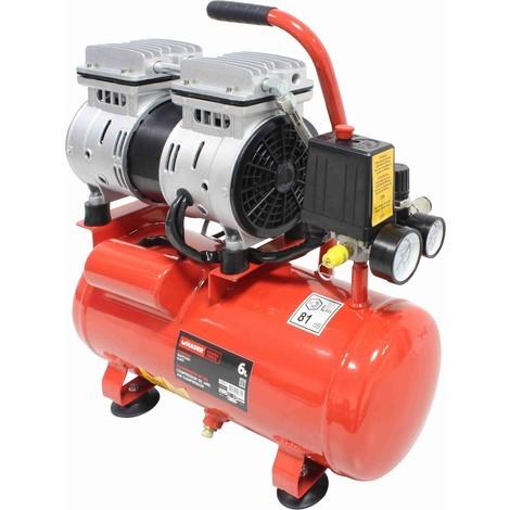 Compresor de Aire Silencioso 6L 0.75HP