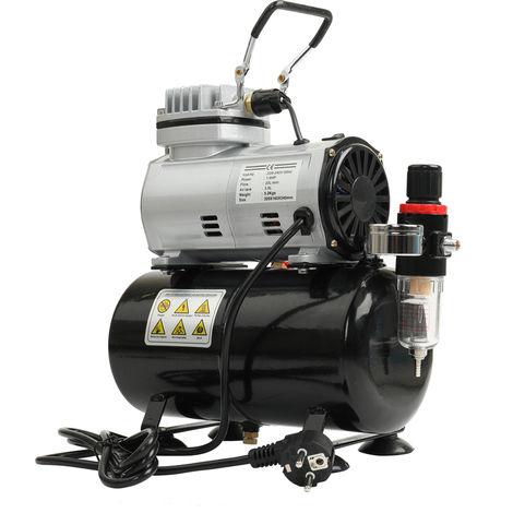 Compresor de aire silencioso sin aceite, bomba de alta presion, enchufe de la UE