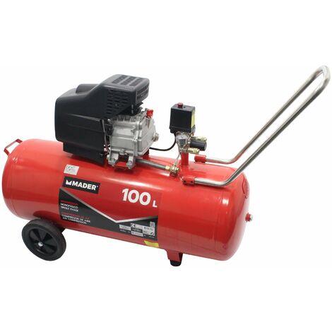 Compresor de Aire, sin Correa, Monobloco, 2.0HP, 100L - MADER® | Power Tools
