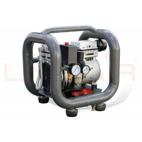 Compresor silencioso Unicair CS-1.0/3L (1Hp/3L) (sin aceite)