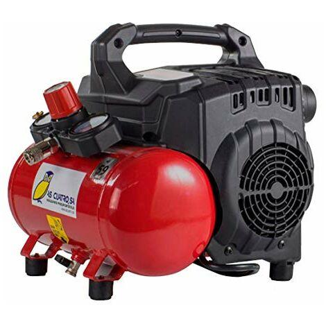 Compresor Silencioso y Portátil Pintuc SILTEK S/6 - 6 litros - 8 bares- 59 decibelios – 15,5 kilos