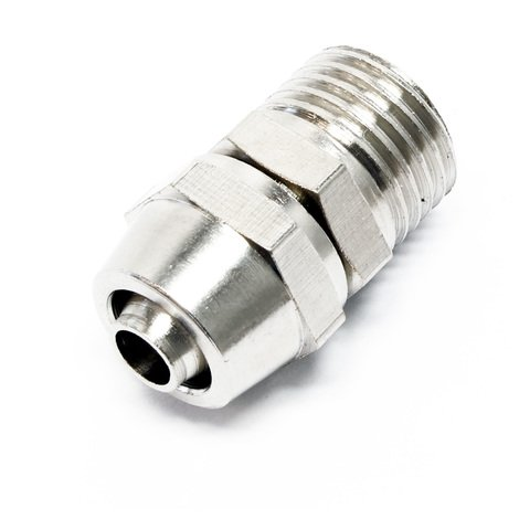 Compressed air hose coupling connection for brake bleeder spare part