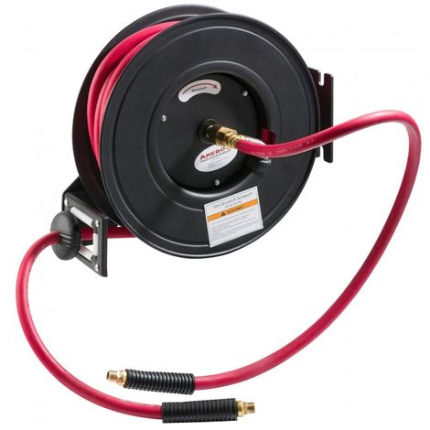 Compressed Air Hose with Reel Hose Drum Automatic Compressor Pneumatic Drum 15 m