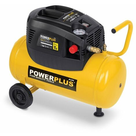 Compresseur 1100W Watts 24 Litres non lubrifié avec accessoires