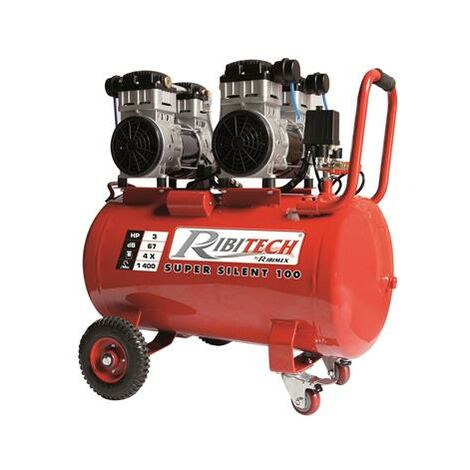 Compresseur 3 CV silencieux sur cuve de 100 litres
