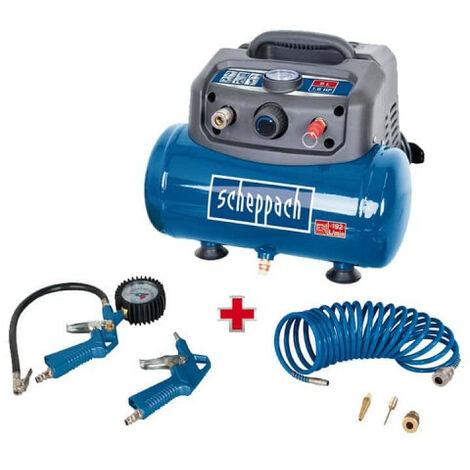 Compresseur 6L 8bar 1.2 kW HC06 SCHEPPACH sans huile avec accessoires - 5906132901