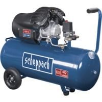 Compresseur à 2 cylindres 100 litres HC100DC Scheppach 5906120901