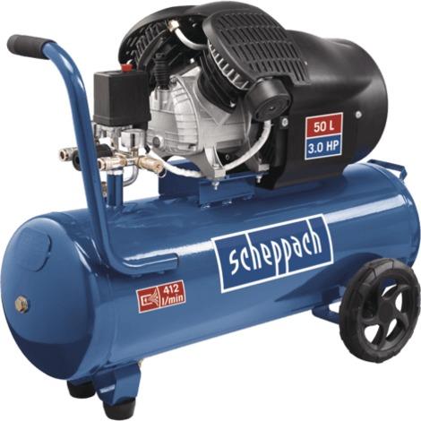 Compresseur à 2 cylindres 50 litres HC53DC Scheppach 5906102901