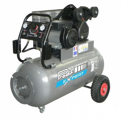 Compresseur à courroie 100L 3CV TRE2210030MG + accessoires offerts PRODIF