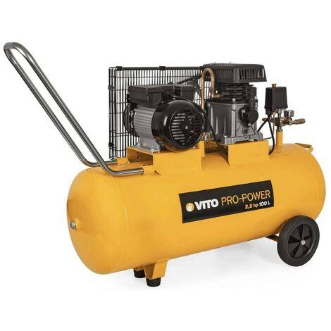 Compresseur à courroie 2.5 CV /100L VITOPOWER 1850 W 230V AC Pression 8 Bar Max