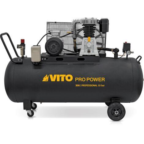 Compresseur à Courroie Professionnel 3000W 4CV/300L VITO 400 Litres/min