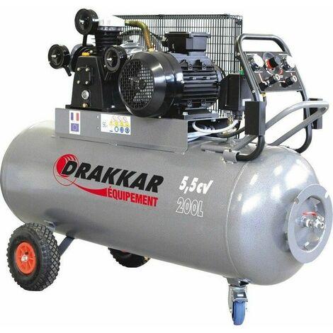 Compresseur à pistons 200l 5,5CV tri