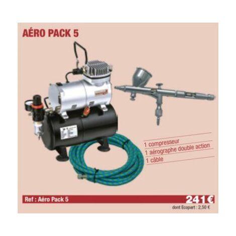 Compresseur + Aérographe Double action + câble